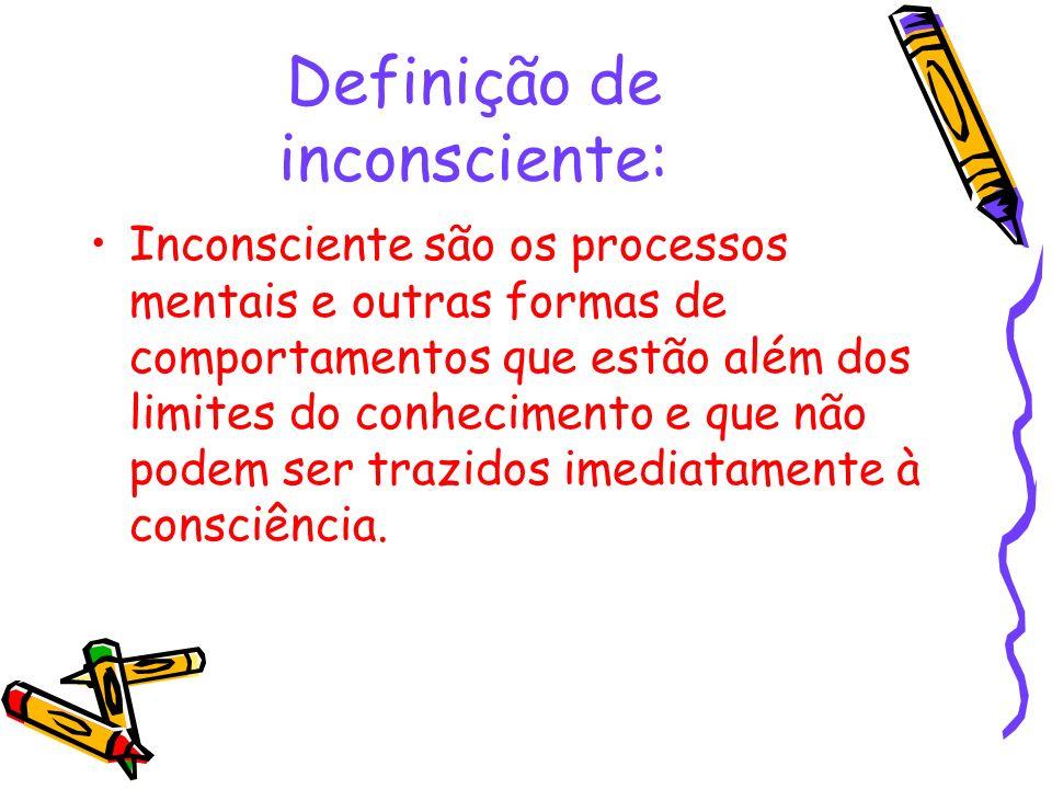 Definição de inconsciente: