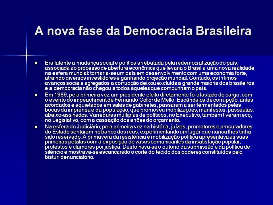 A nova fase da Democracia Brasileira