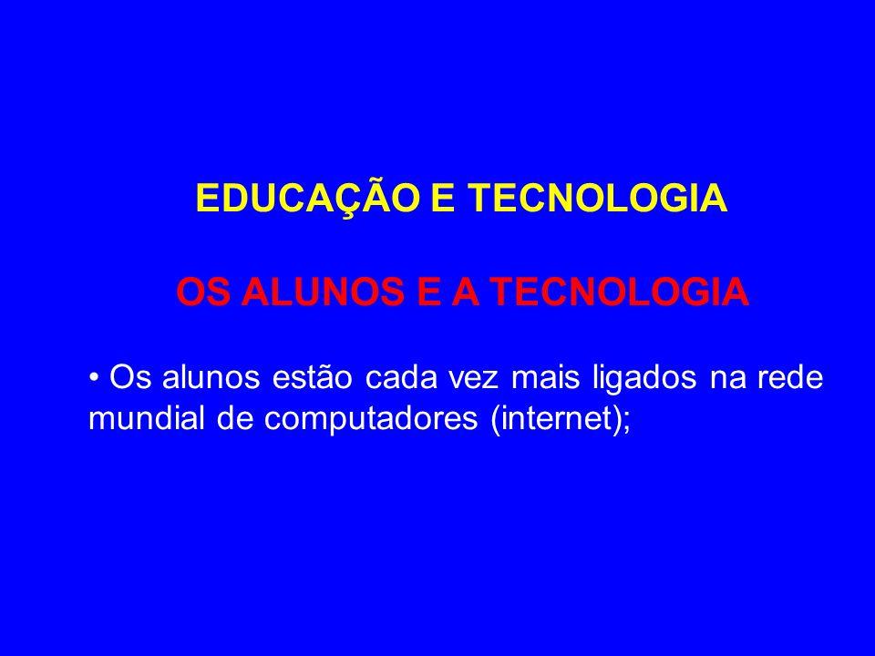 OS ALUNOS E A TECNOLOGIA