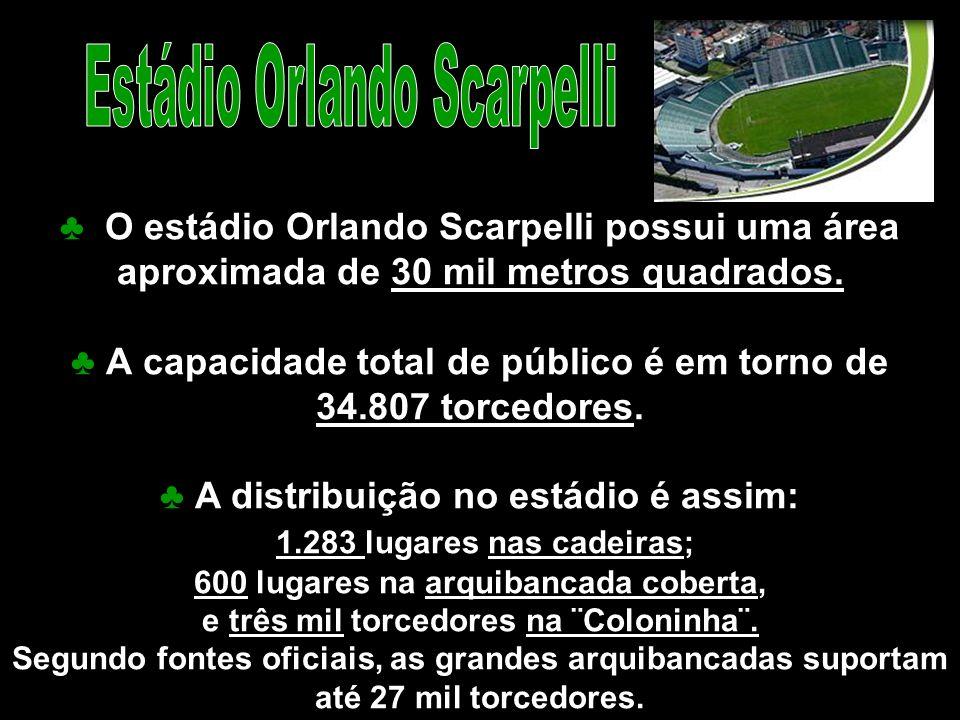 ♣ A capacidade total de público é em torno de 34.807 torcedores.