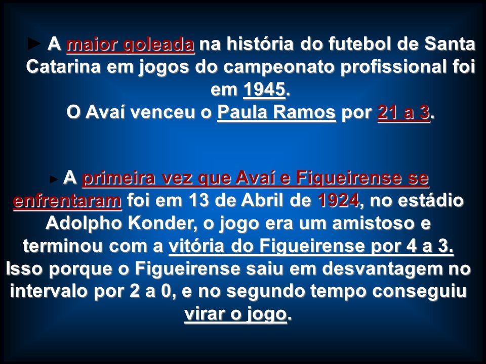 O Avaí venceu o Paula Ramos por 21 a 3.