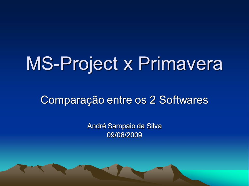 MS-Project x Primavera