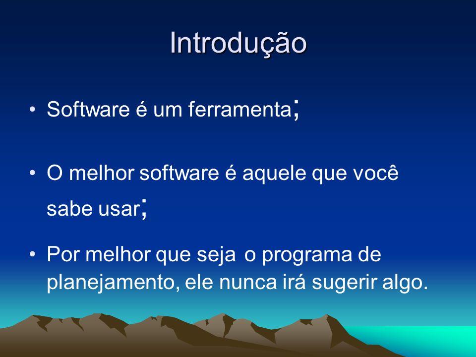 Introdução Software é um ferramenta;