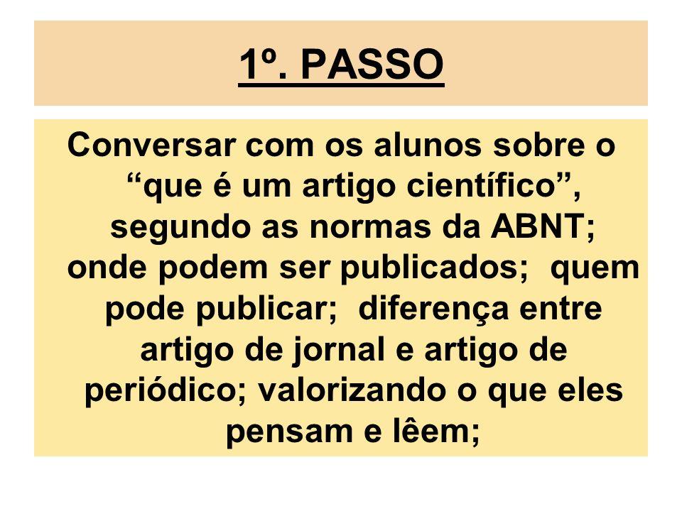1º. PASSO
