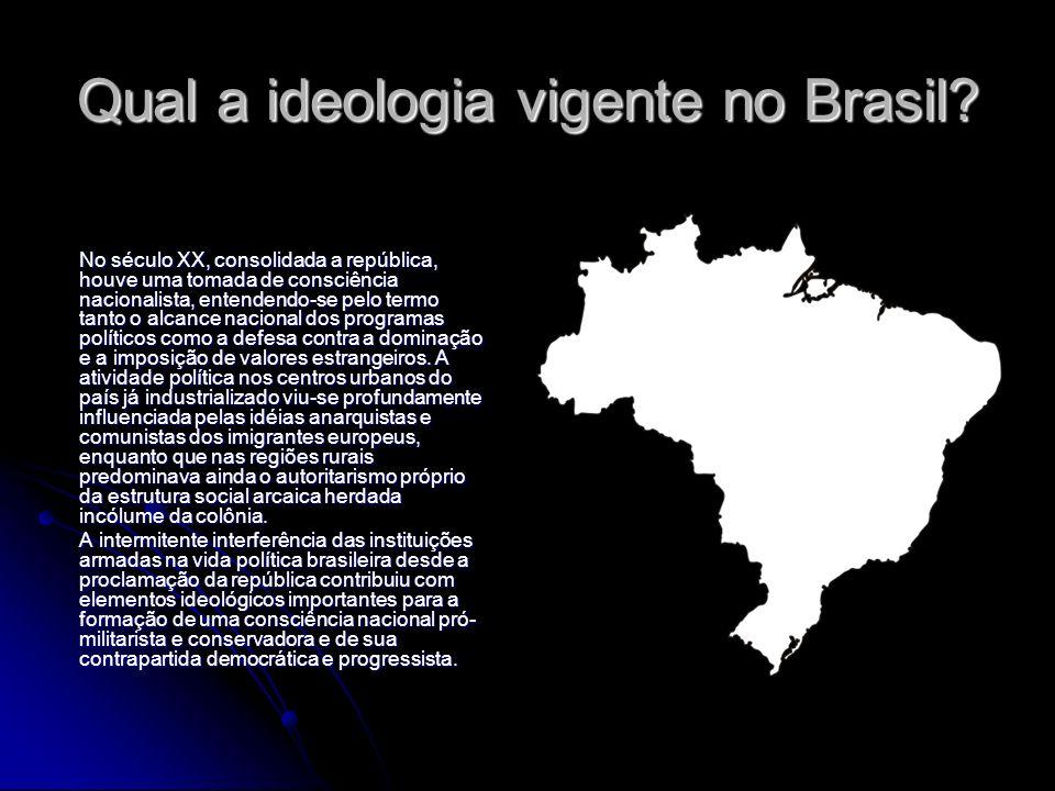 Qual a ideologia vigente no Brasil