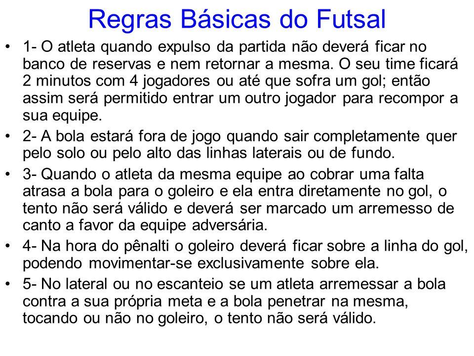 Regras Básicas do Futsal