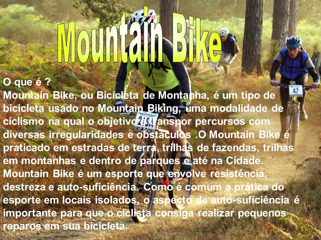 Mountain Bike O que é