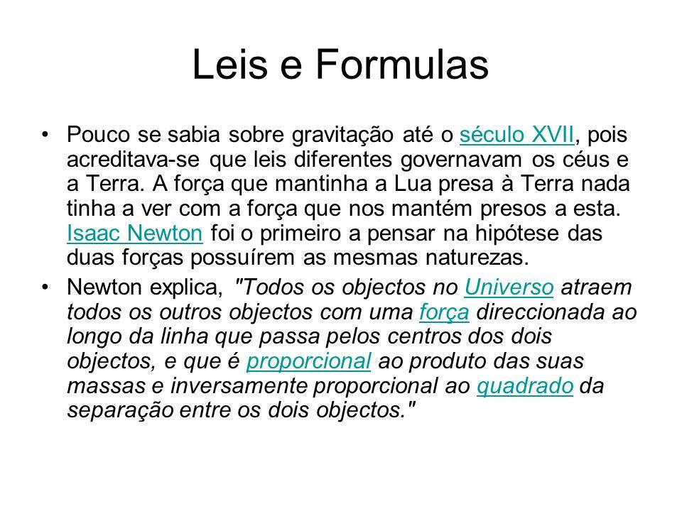 Leis e Formulas