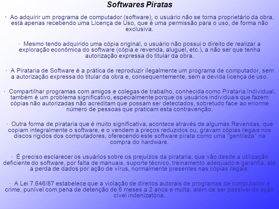 Softwares Piratas ·