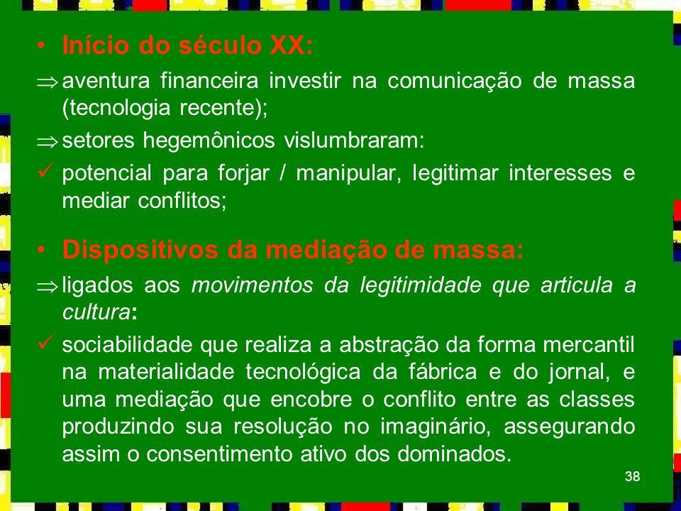 Dispositivos da mediação de massa: