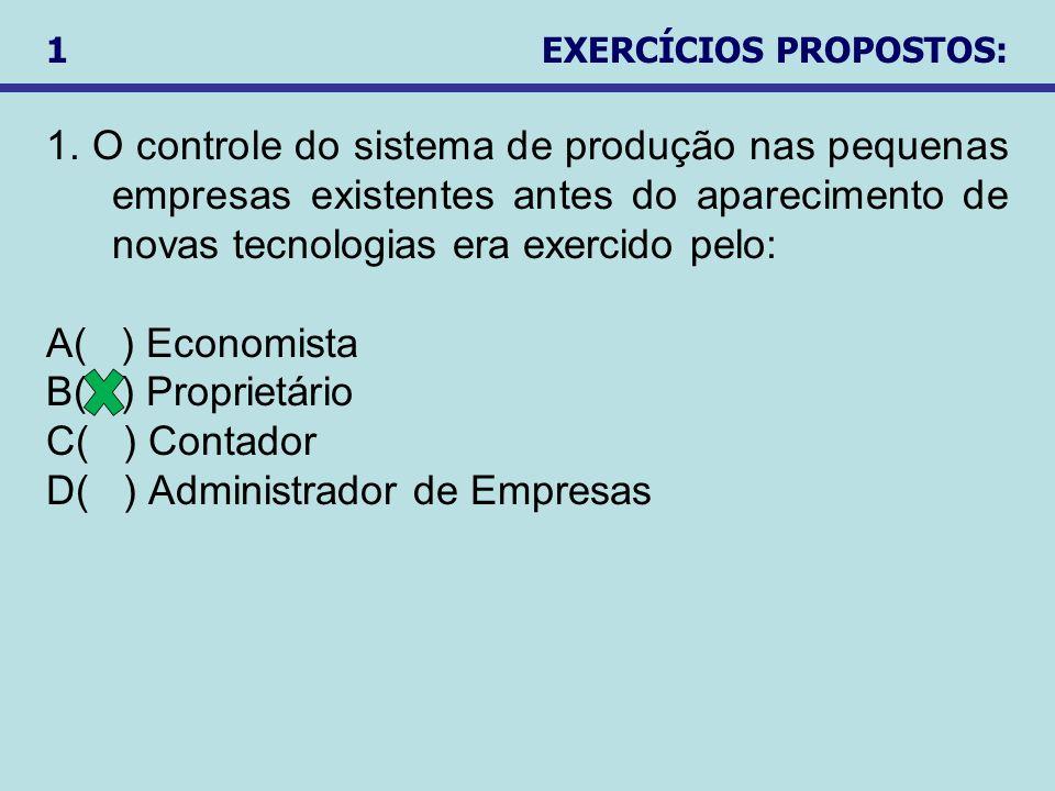 1 EXERCÍCIOS PROPOSTOS:
