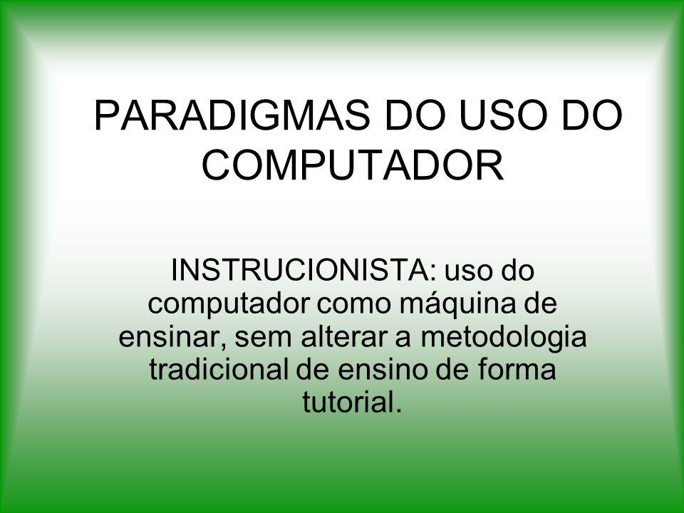 PARADIGMAS DO USO DO COMPUTADOR