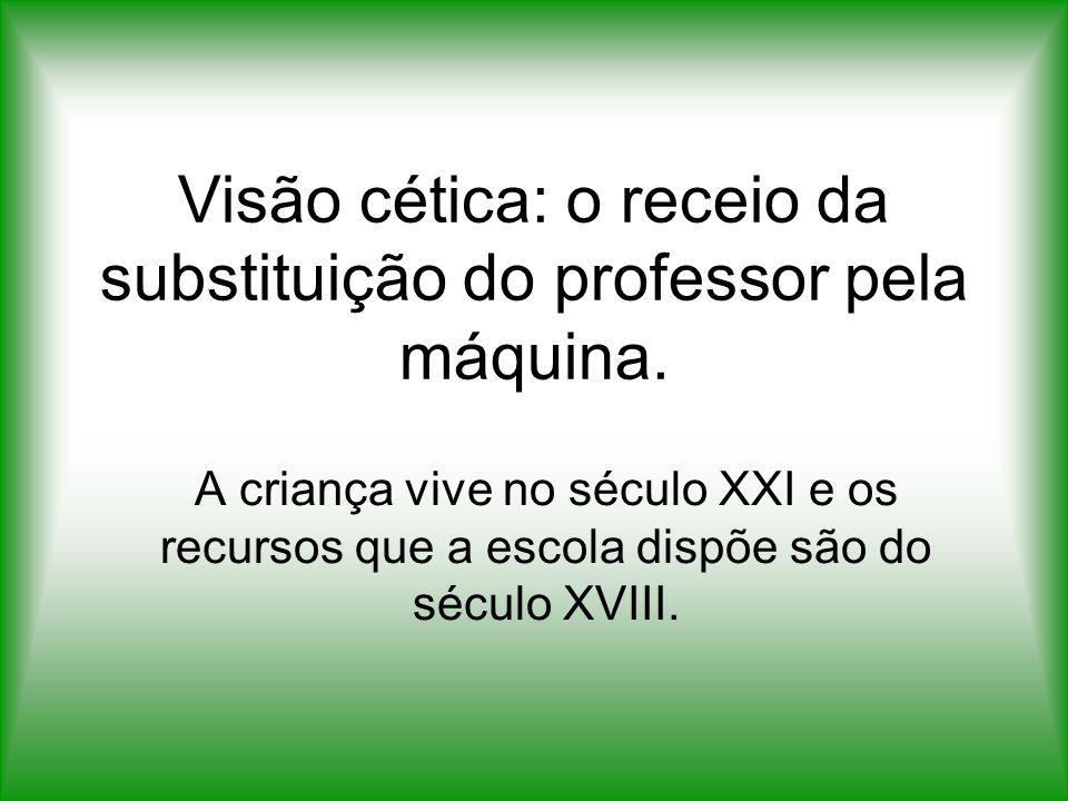 Visão cética: o receio da substituição do professor pela máquina.