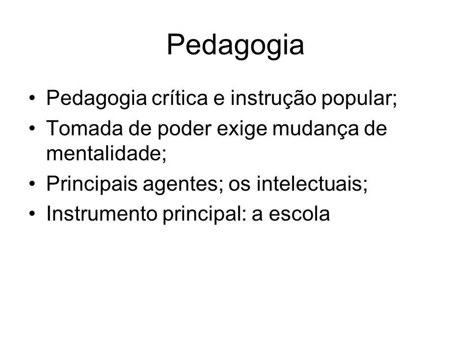 Pedagogia Pedagogia crítica e instrução popular;