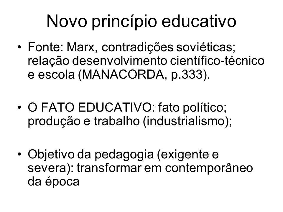 Novo princípio educativo
