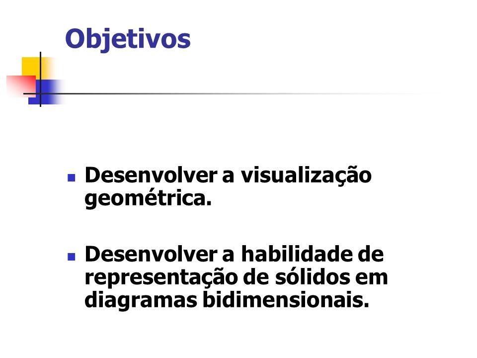 Objetivos Desenvolver a visualização geométrica.