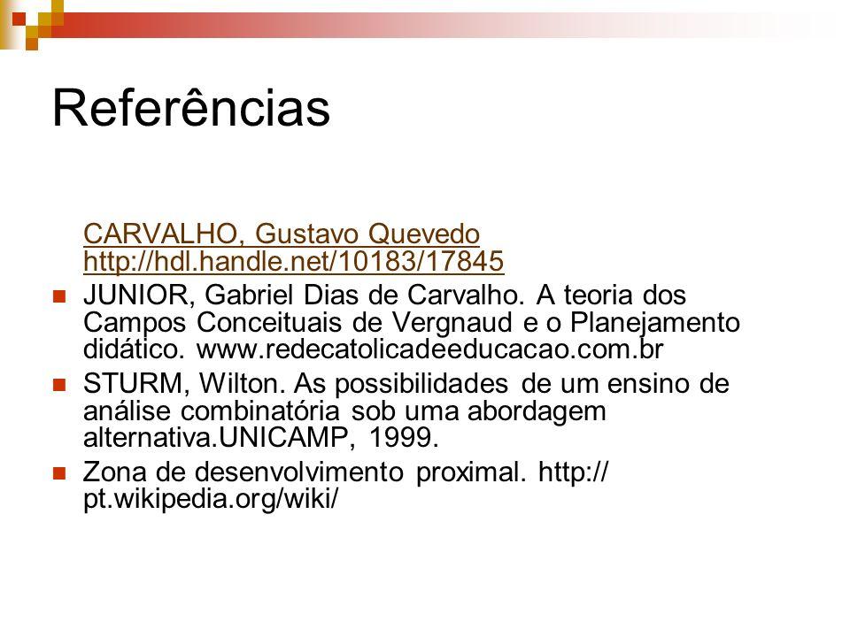 Referências CARVALHO, Gustavo Quevedo http://hdl.handle.net/10183/17845.
