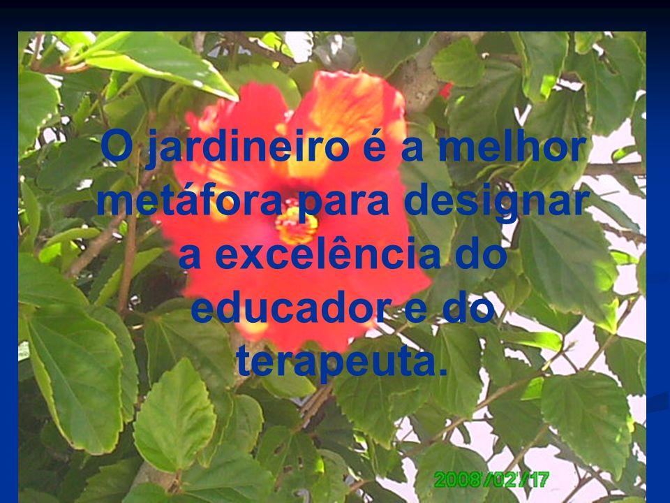 O jardineiro é a melhor metáfora para designar a excelência do educador e do terapeuta.
