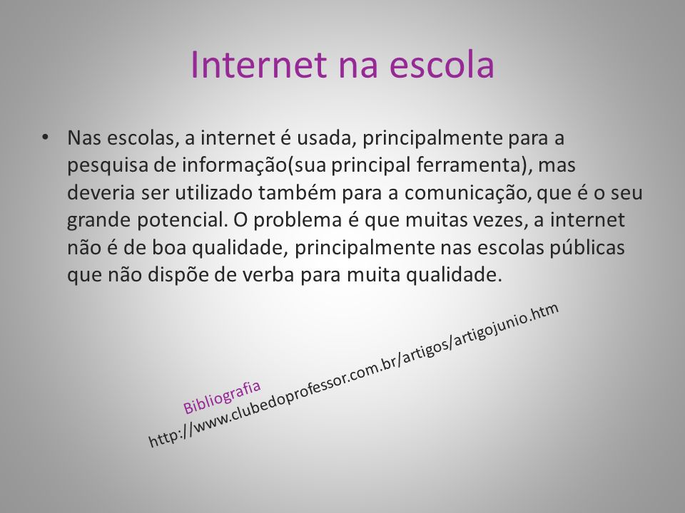 Internet na escola