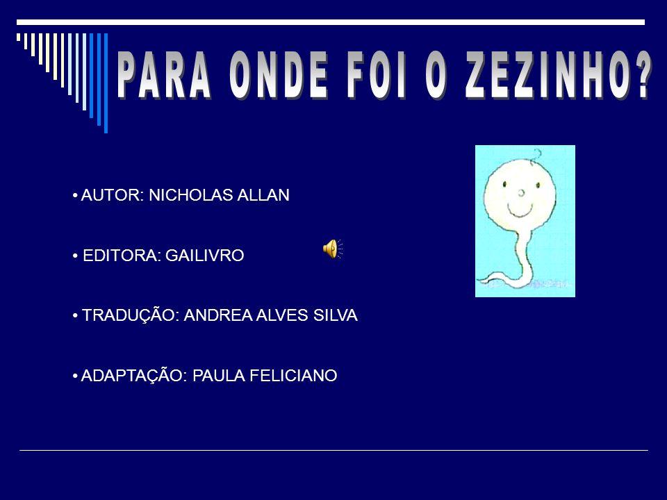 PARA ONDE FOI O ZEZINHO AUTOR: NICHOLAS ALLAN EDITORA: GAILIVRO
