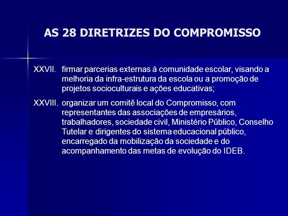 AS 28 DIRETRIZES DO COMPROMISSO