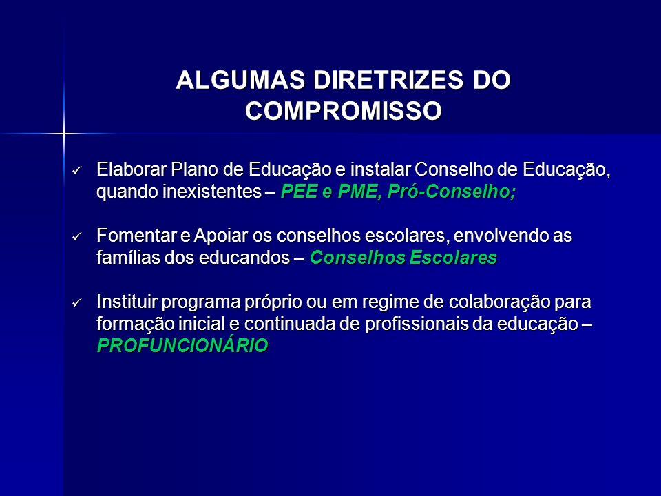 ALGUMAS DIRETRIZES DO COMPROMISSO