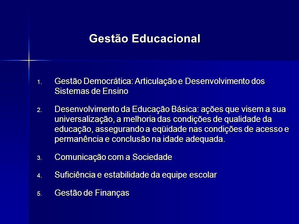 Gestão Educacional Gestão Democrática: Articulação e Desenvolvimento dos Sistemas de Ensino.