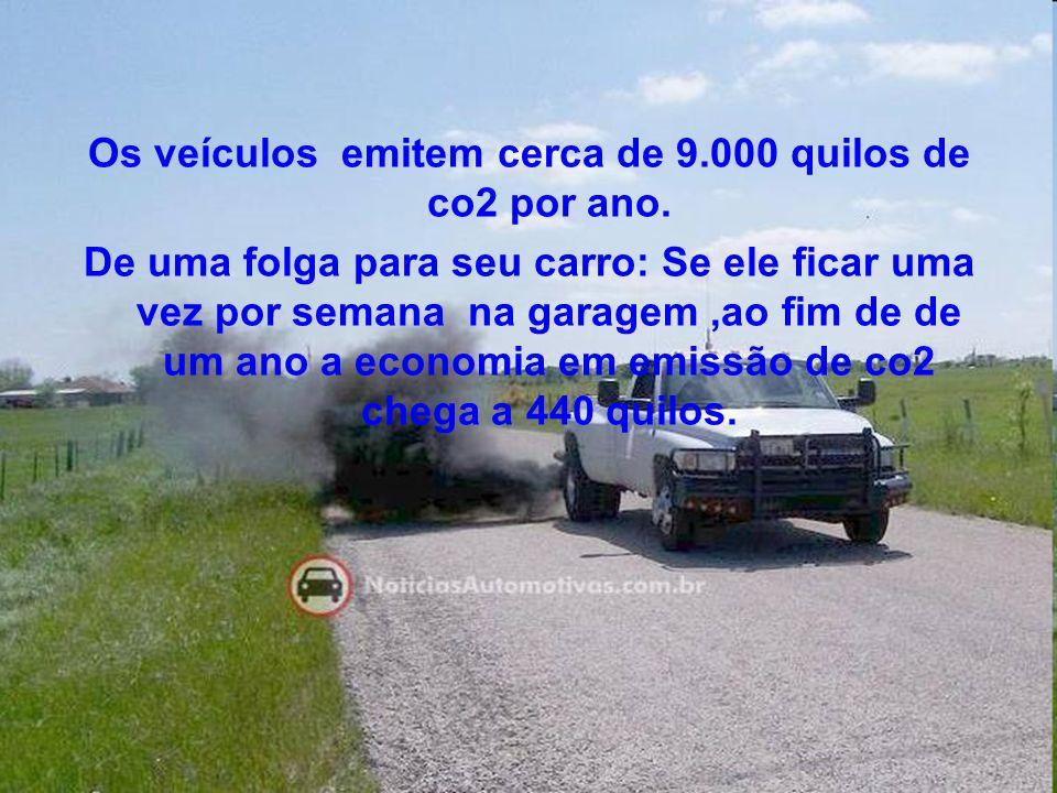 Os veículos emitem cerca de 9.000 quilos de co2 por ano.