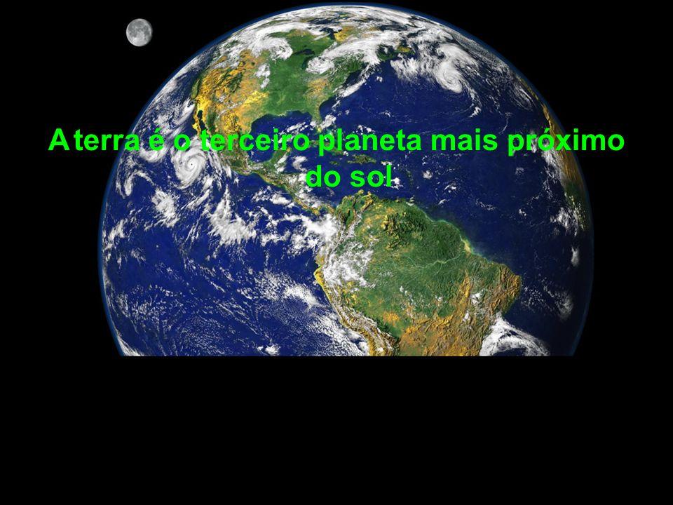A terra é o terceiro planeta mais próximo do sol