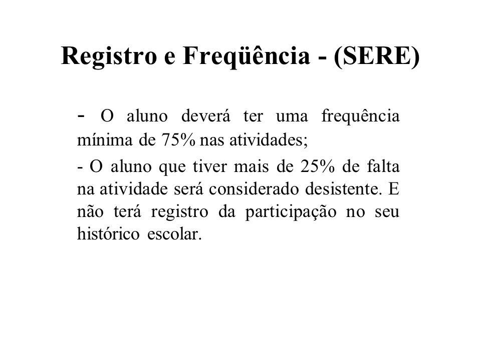 Registro e Freqüência - (SERE)