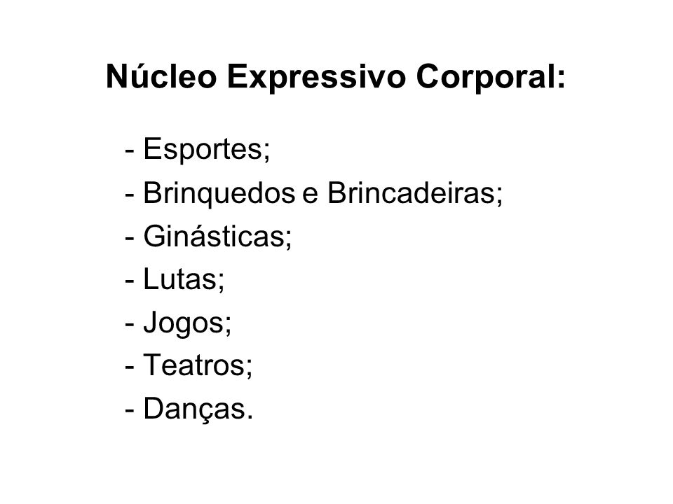 Núcleo Expressivo Corporal:
