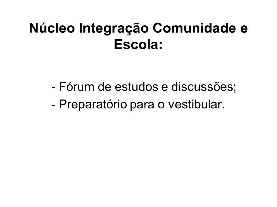 Núcleo Integração Comunidade e Escola: