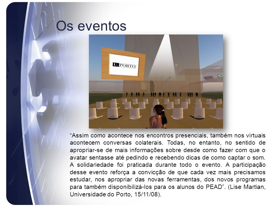 Os eventos