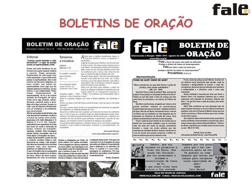 BOLETINS DE ORAÇÃO
