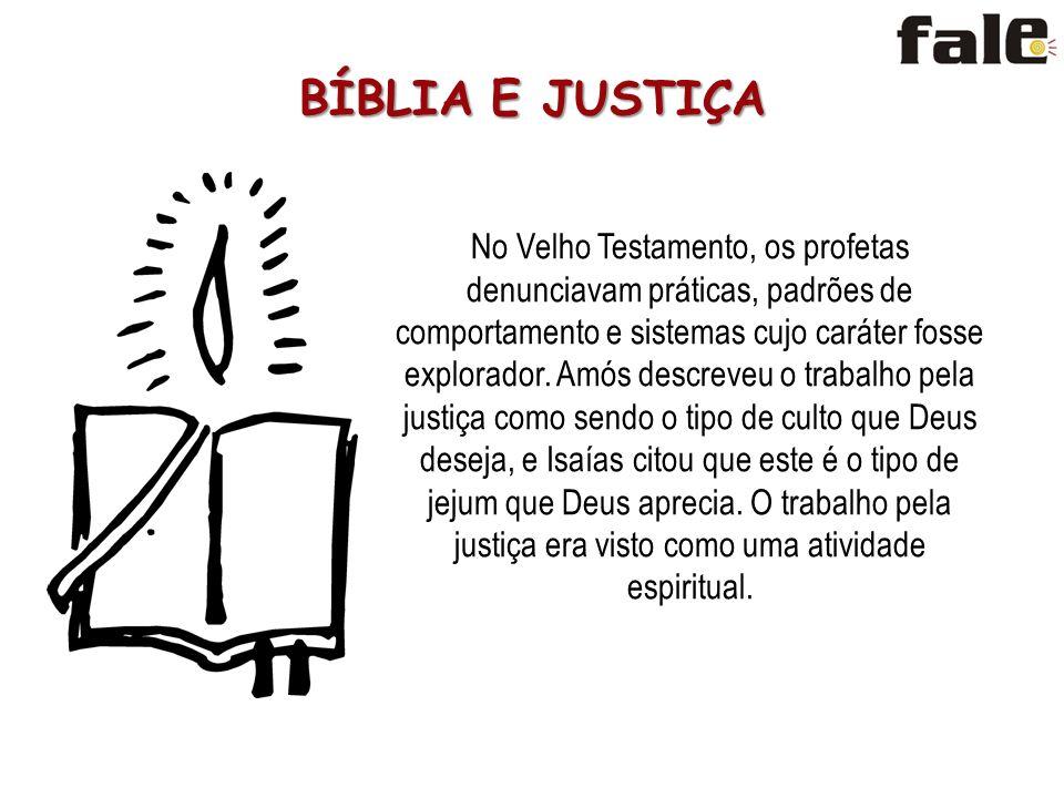 BÍBLIA E JUSTIÇA