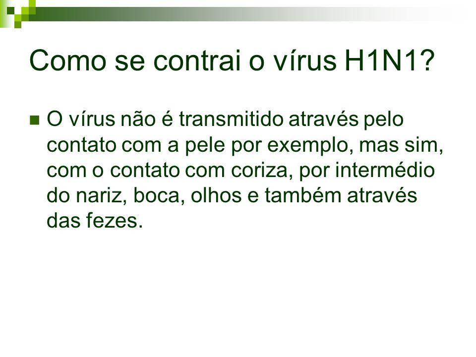 Como se contrai o vírus H1N1