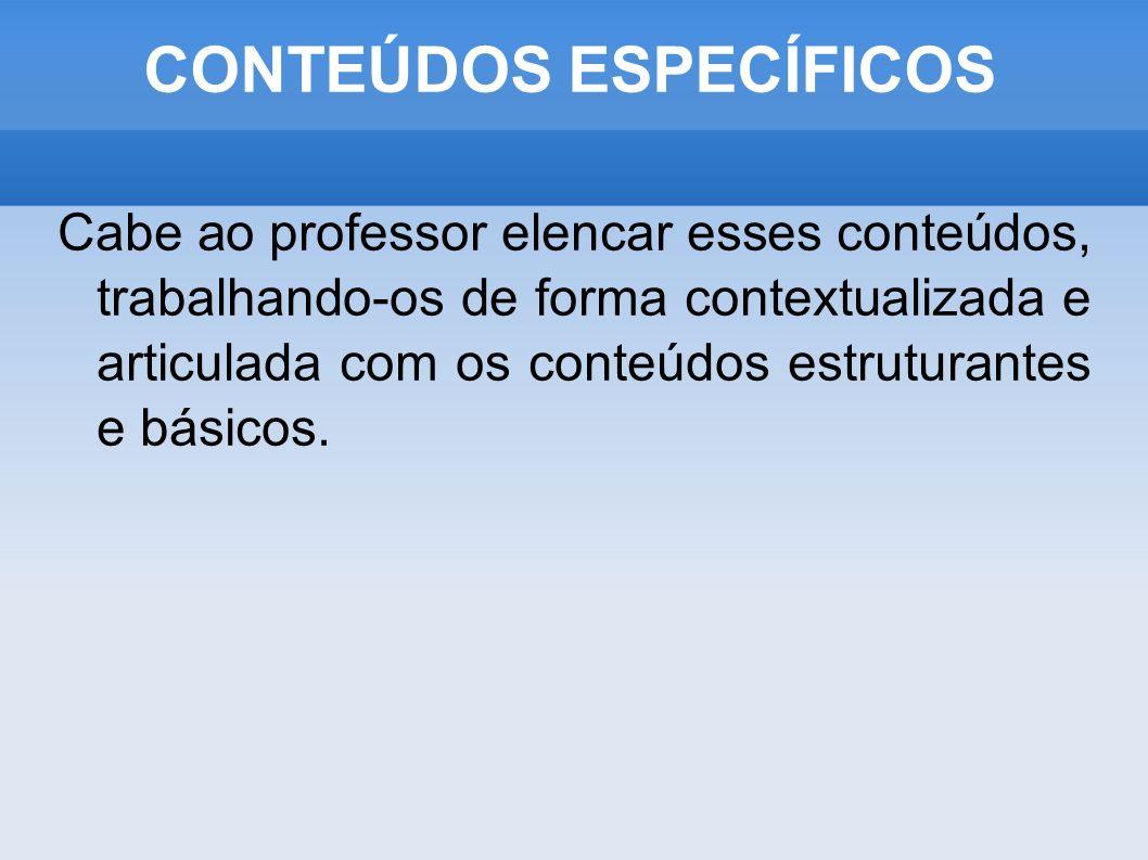 CONTEÚDOS ESPECÍFICOS