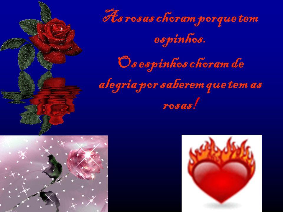 As rosas choram porque tem espinhos.