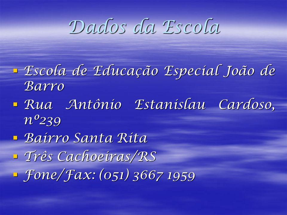 Dados da Escola Escola de Educação Especial João de Barro
