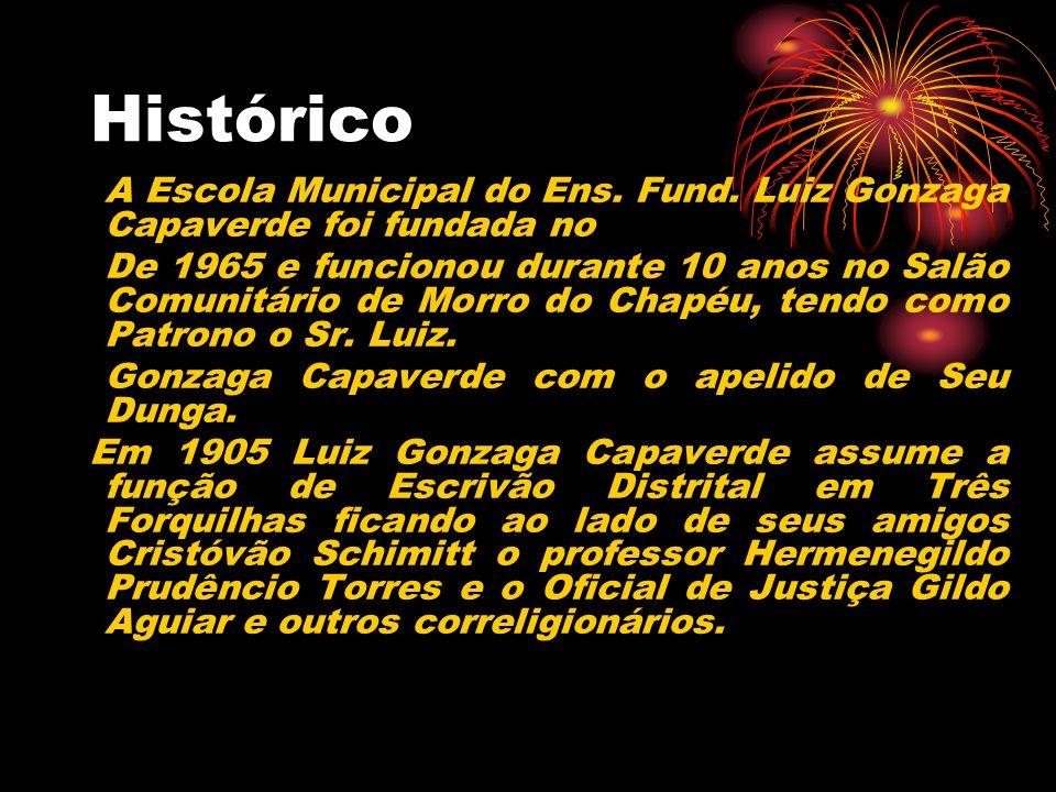Histórico A Escola Municipal do Ens. Fund. Luiz Gonzaga Capaverde foi fundada no.
