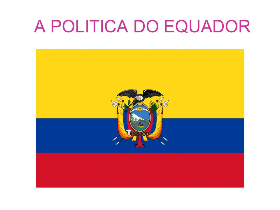 A POLITICA DO EQUADOR