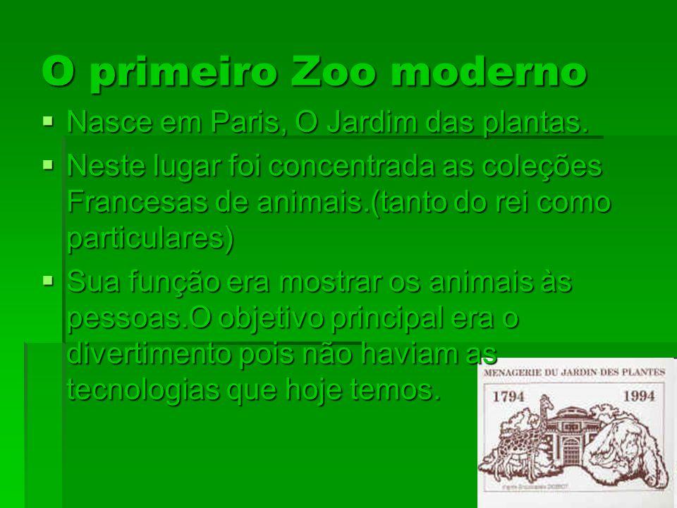 O primeiro Zoo moderno Nasce em Paris, O Jardim das plantas.