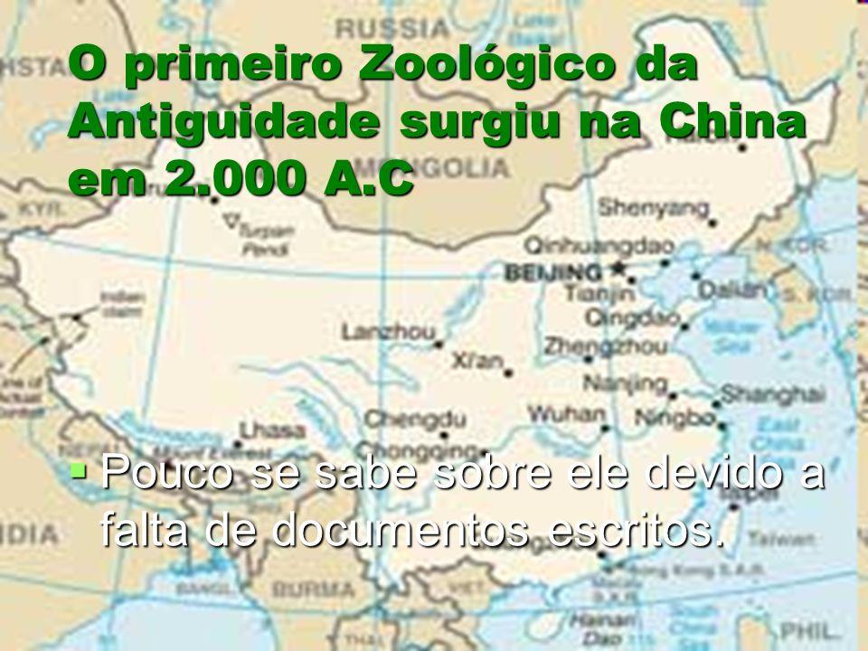 O primeiro Zoológico da Antiguidade surgiu na China em 2.000 A.C