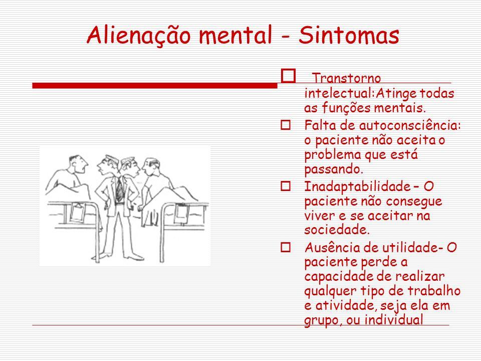 Alienação mental - Sintomas
