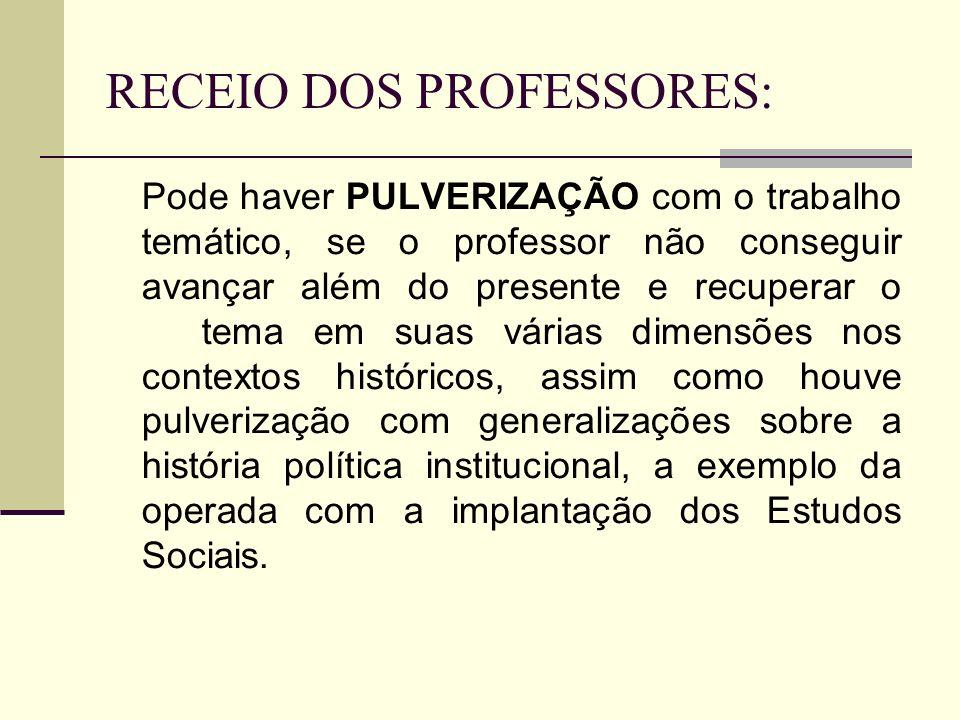 RECEIO DOS PROFESSORES: