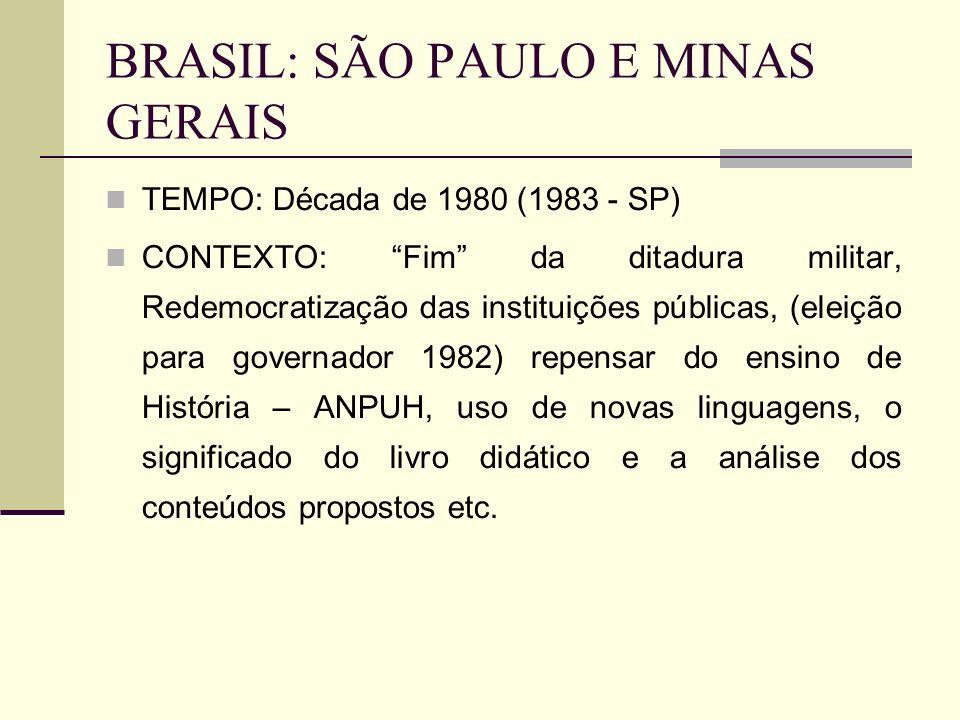 BRASIL: SÃO PAULO E MINAS GERAIS