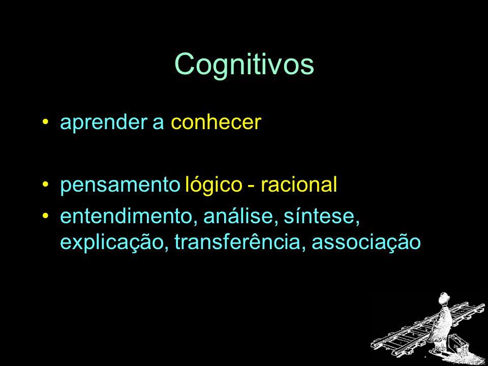 Cognitivos aprender a conhecer pensamento lógico - racional
