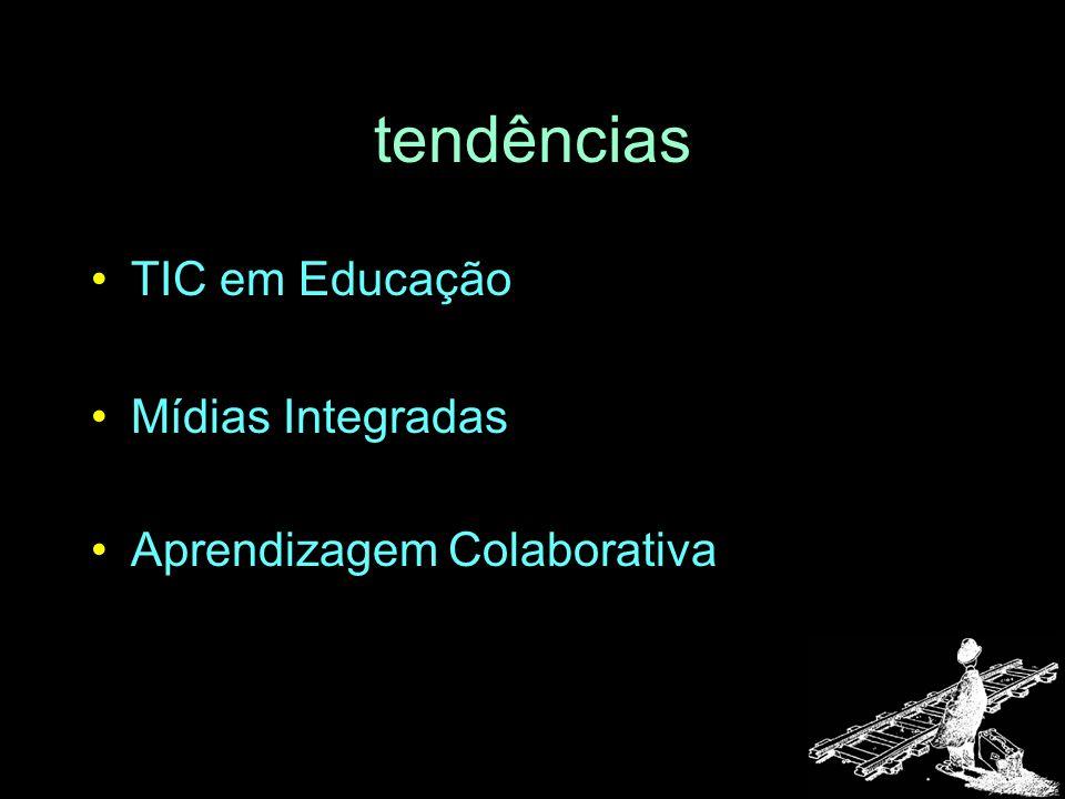 tendências TIC em Educação Mídias Integradas Aprendizagem Colaborativa