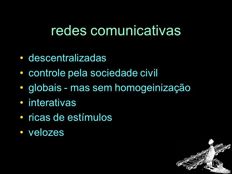 redes comunicativas descentralizadas controle pela sociedade civil