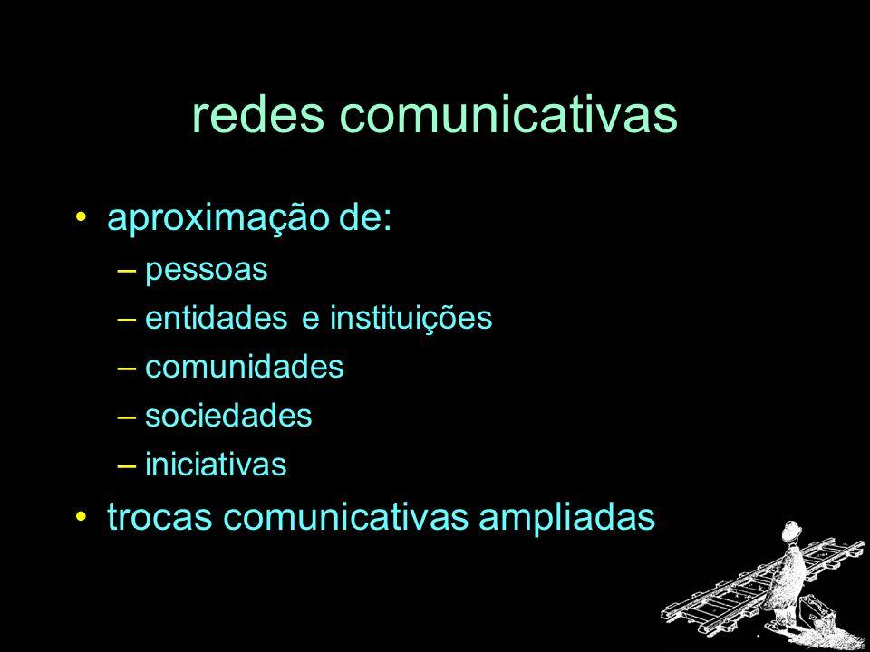 redes comunicativas aproximação de: trocas comunicativas ampliadas